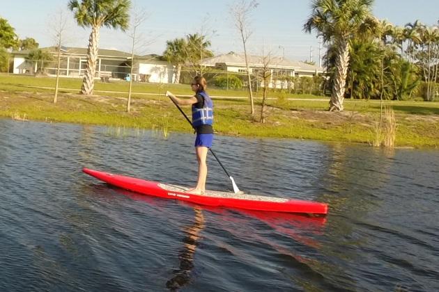 lindsey paddleboarding