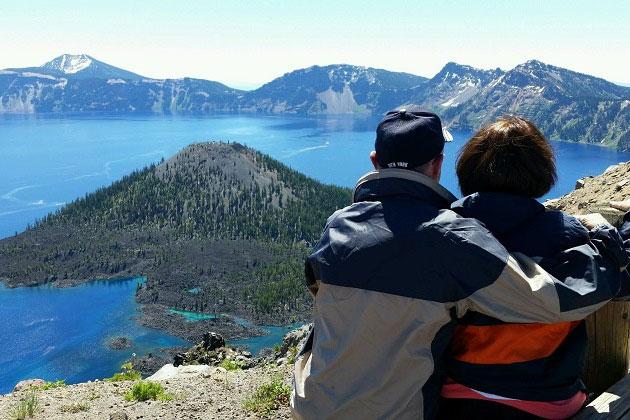 Parents at Crater Lake
