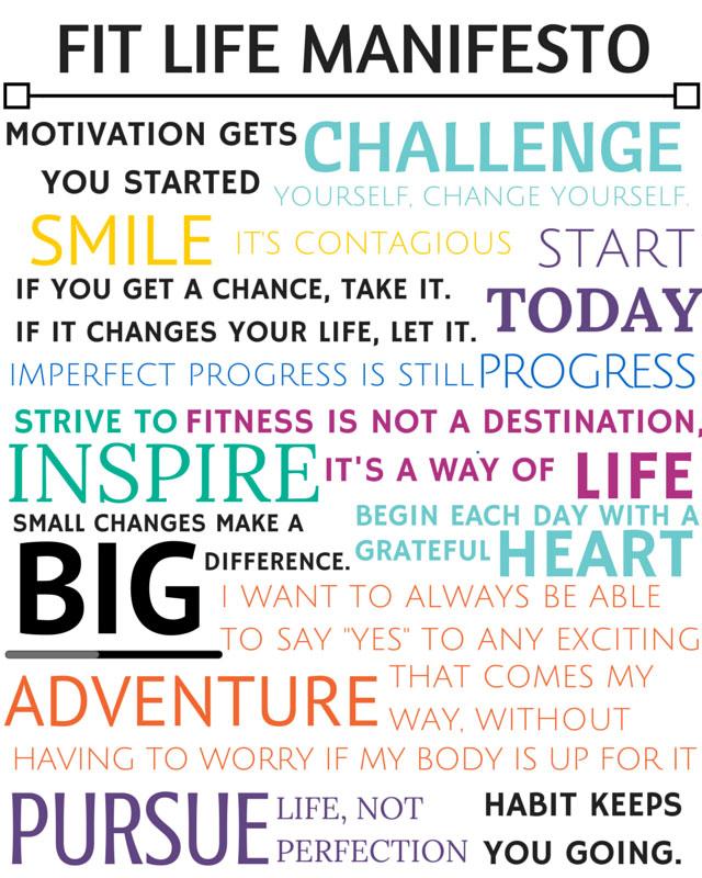 Fit Life Manifesto