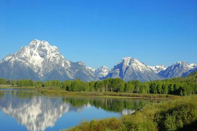 Grand Tetons mirror lake view
