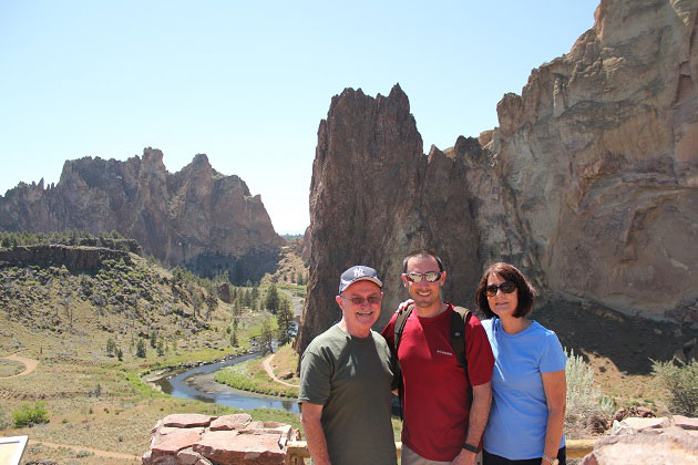 Smith Rock Family Picture