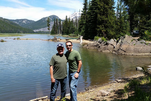 Sparks Lake in June with Dad