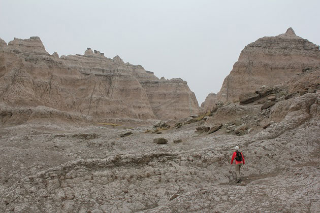 Hiking Notch Trail at Badlands
