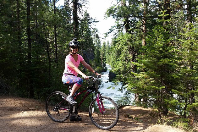 Biking at Benham Falls