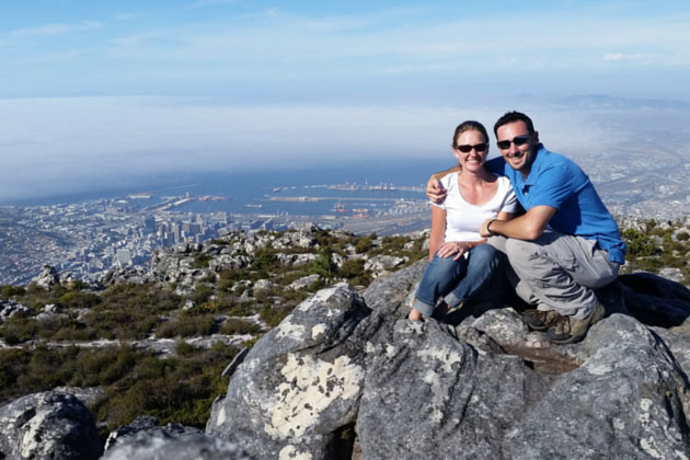Table Mountain overlooking Cape Town