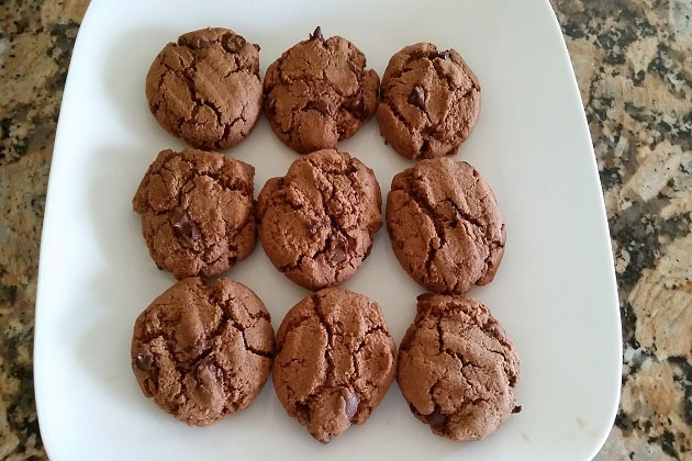 Chocolate fudge coconut butter cookies