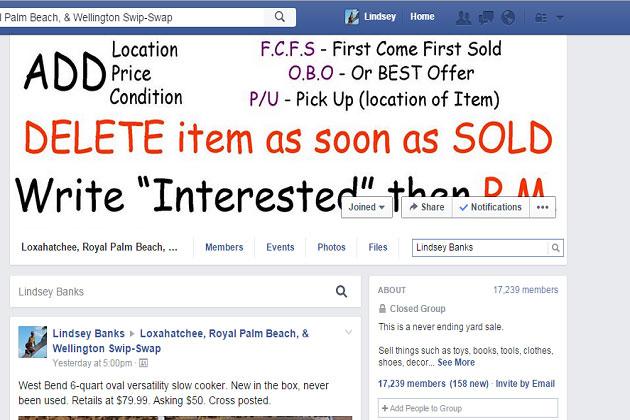 Facebook Yard Sale