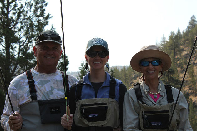 Fly fishing with family