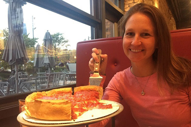 Giordano's Deep Dish Pizza at Navy Pier Chicago