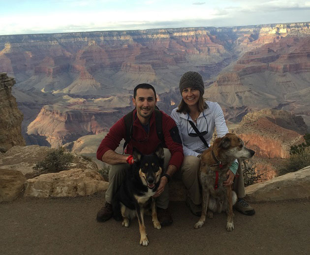 Grand Canyon with dogs