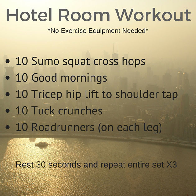 Hotel room workout plan