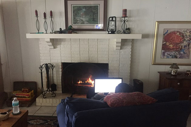 Writing by the fire