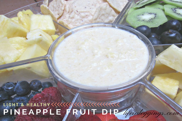 Light and healthy pineapple fruit dip