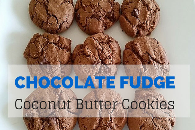 Chocolate fudge coconut butter cookies recipe
