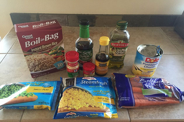 Pineapple Fried Brown Rice Ingredients