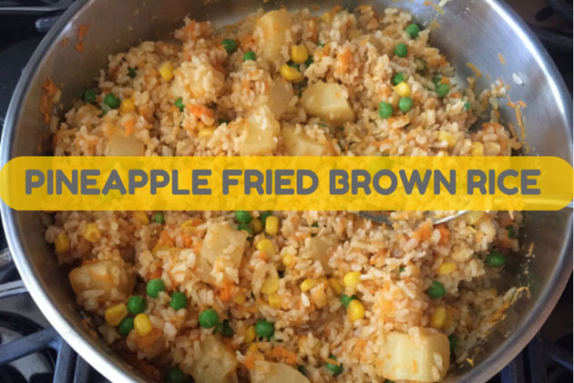 Pineapple Fried Brown Rice Recipe