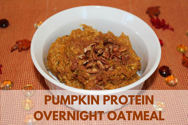 Pumpkin Protein Overnight Oatmeal with a Secret Ingredient Giveaway