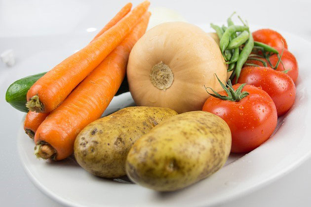 Red and orange vegetables