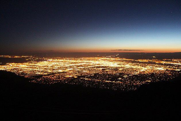 Albuquerque at night from Sandia Peak