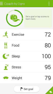 Android S-Health Coach App Feature