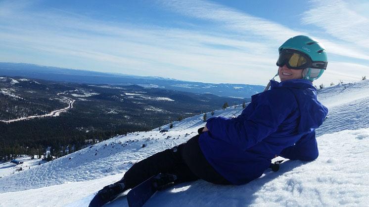 Testing new ski gear