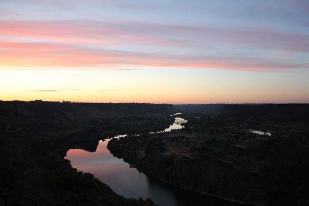 Snake River Canyon Sunset