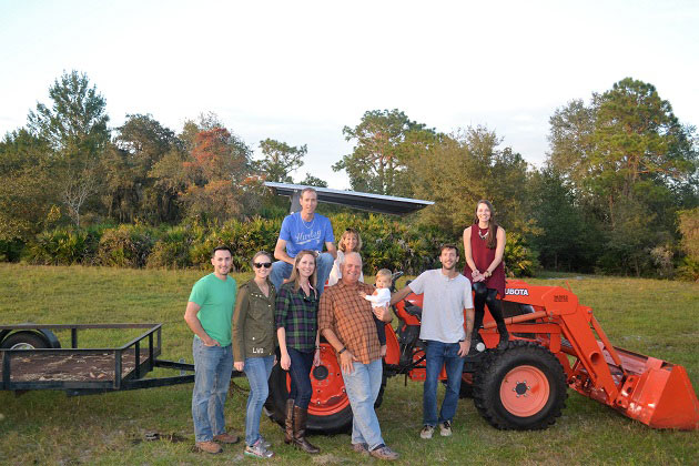 Thanksgiving Farm Family Photo