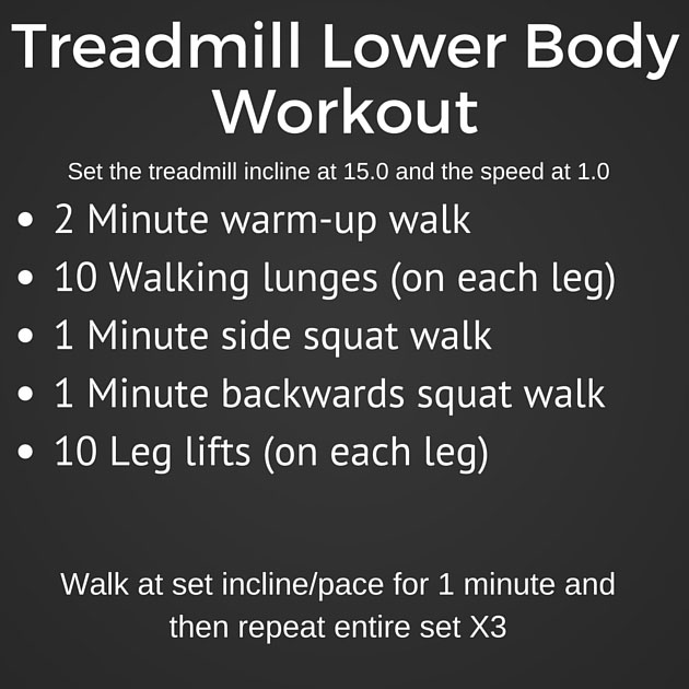 Treadmill Lower Body Workout