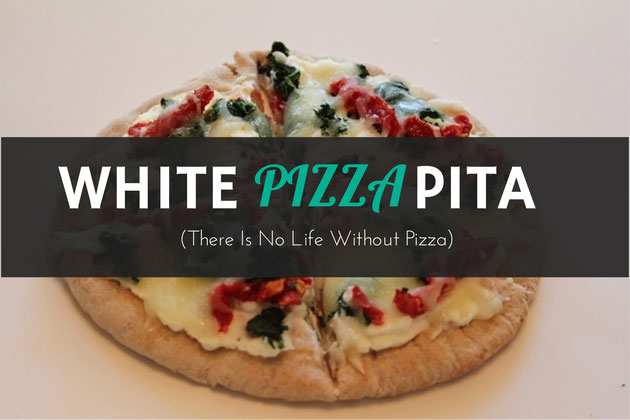 White Pizza Pita Healthy Recipe