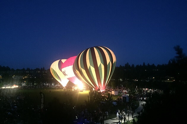Bend Hot Air Balloons